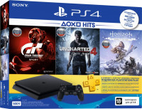 PS4 500 ГБ + Horizon + Gran Turismo + Uncharted 4 + PS Plus 3 месяца