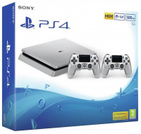 Sony PlayStation 4 Slim Silver (500 GB) + Dualshock 4 Silver